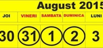 Evenimentele Facebook 31 Iulie – 2 August in Neamt