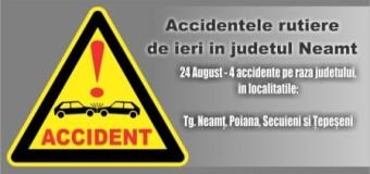 Accidentele rutiere de ieri in judetul Neamt