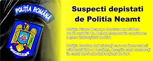 Suspecti depistati de Politia Neamt
