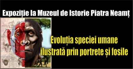 Evoluția speciei umane ilustrată. Expoziție la Muzeul de Istorie Piatra Neamț