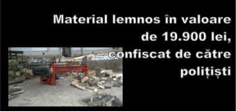 Material lemnos în valoare de 19.900 lei, confiscat de către polițiști