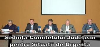 Ședința Comitetului Județean pentru Situații de Urgență – Comunicat de presă