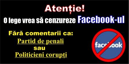 Atenție! O lege propusă de Liviu Dragnea vrea să cenzureze și Facebook-ul.