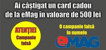 Campanie FALSĂ în numele eMag.