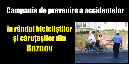 Campanie de prevenire a accidentelor în rândul bicicliștilor și căruțașilor din Roznov