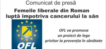 Comunicat de presă – Femeile liberale din Roman luptă împotriva cancerului la sân