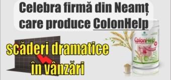 Celebra firmă din Neamț care produce ColonHelp, scăderi dramatice în vânzări.
