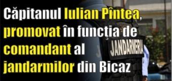 Căpitanul Iulian Pîntea, promovat în funcţia de comandant al jandarmilor din Bicaz