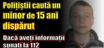 Polițiștii caută un minor de 15 ani dispărut. Dacă aveți informații sunați la 112