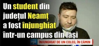 """Un student nemțean înjunghiat în campusul """"Tudor Vladimirescu"""" din Iași"""