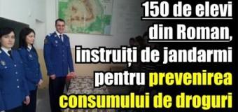 150 de elevi din Roman, instruiți de jandarmi pentru prevenirea consumului de droguri