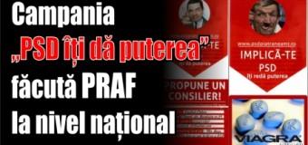 """Campania """"PSD îți dă puterea"""" făcută praf la nivel național"""