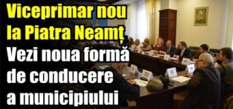 Viceprimar nou la Piatra Neamț. Vezi noua formă de conducere a municipiului