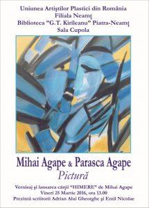 Afis 03_25_2016 Vernisaj Parasca si Mihai Agape