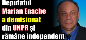 Deputatul Marian Enache a demisionat din UNPR și rămâne independent