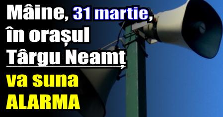 Mâine, 31 martie, în orașul Târgu Neamț va un -exercițiu în caz de cutremur-