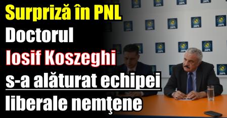 Surpriză în PNL. Doctorul Iosif Koszeghi s-a alăturat echipei liberale nemţene