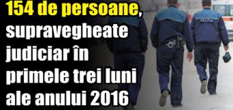 154 de persoane, supravegheate judiciar în primele trei luni ale anului 2016