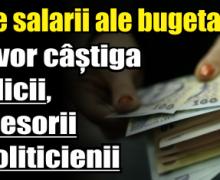 Noile salarii ale bugetarilor. Cât vor câștiga medicii, profesorii și politicienii