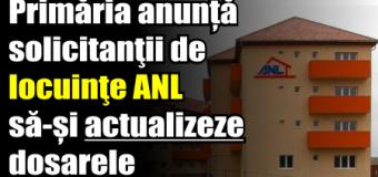 Primăria anunță solicitanţii de locuinţe ANL să-și actualizeze dosarele