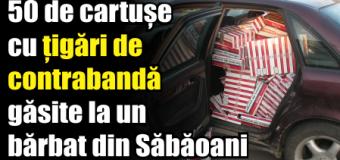 50 de cartușe cu țigări de contrabandă găsite la un bărbat din Săbăoani