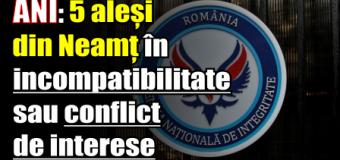 ANI: 5 aleși din Neamț în incompatibilitate sau conflict de interese