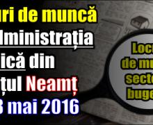 Locuri de muncă în administrația publică din județul Neamț – 28 mai