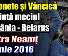 Meciul naționalei de handbal, de la Piatra Neamț, va fi prezentat de Bobonete și Văncică