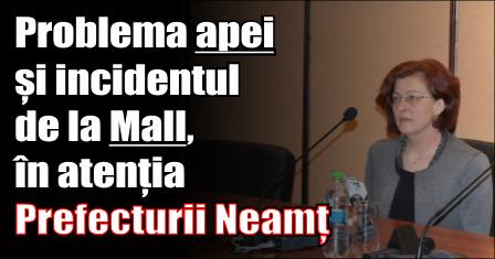 Problema apei și incidentul de la Mall, în atenția Prefecturii Neamț