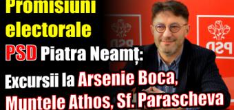 Promisiuni electorale PSD Piatra Neamț: Excursii la Arsenie Boca, Sf. Parascheva, Muntele Athos