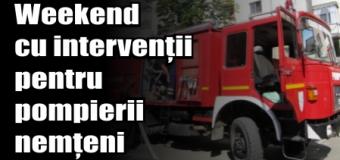 Weekend cu intervenții pentru pompierii nemțeni