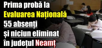Prima probă la Evaluarea Națională – 55 absenți și niciun eliminat în județul Neamț