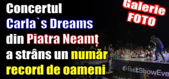 Concertul Carla`s Dreams din Piatra Neamț a strâns un număr record de oameni