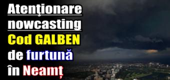 Atenţionare nowcasting – Cod GALBEN de furtună în Neamț