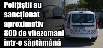 Polițiștii nemțeni au sancționat aproximativ 800 de vitezomani într-o săptămână