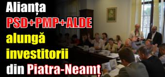 Alianța PSD+PMP+ALDE alungă investitorii din Piatra-Neamț. Au votat împotrivă!