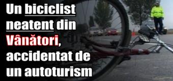 Un biciclist neatent din Vânători, accidentat de un autoturism