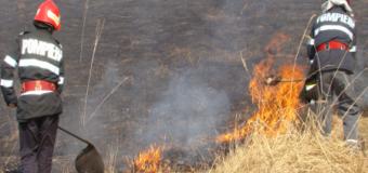 Pompierii nemțeni au stins ieri (31 august) patru incendii de vegetație pe raza județului