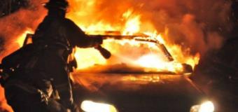 Incendiu izbucnit la o mașină (marca Mercedes) din comuna Alexandru cel Bun