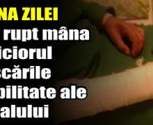 POZNA ZILEI – Și-a rupt mâna și piciorul pe scările Spitalului Județean Neamț