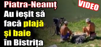 La sfârșitul lunii septembrie, în Piatra-Neamț se face plajă și baie în Bistrița