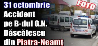 Accident pe B-dul G.N. Dăscălescu din Piatra-Neamț