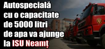 Cinci noi autospeciale în dotarea pompierilor români. Una va ajunge și în Neamț