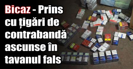 Bicaz – Prins cu țigări de contrabandă ascunse în tavanul fals