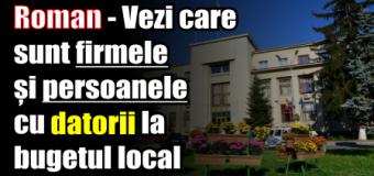 Roman – Vezi care sunt firmele și persoanele cu datorii la bugetul local