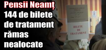 Pensii Neamț – 144 de bilete de tratament rămas nealocate