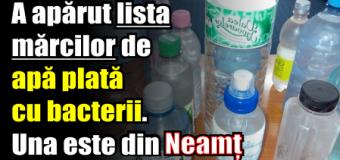 """A apărut lista mărcilor de apă plată """"OTRĂVITĂ"""". Una este din Neamț"""