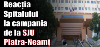 Reacția Spitalului Județean Neamț la campania de la SJU Piatra-Neamț