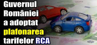 Guvernul României a adoptat plafonarea tarifelor RCA