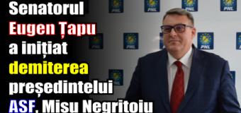 Senatorul Eugen Țapu Nazare a inițiat demiterea președintelui ASF, Mișu Negrițoiu